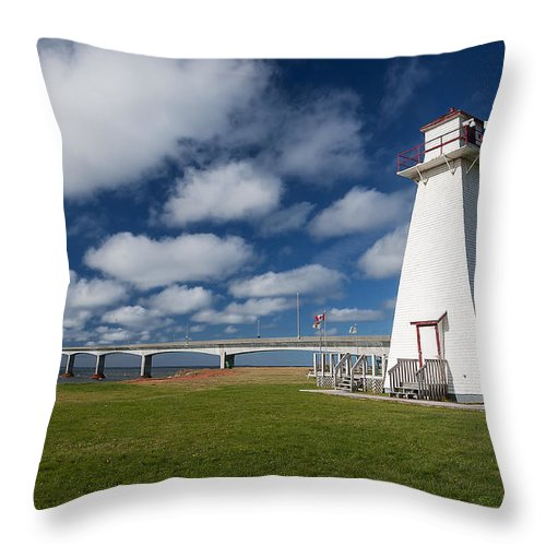 Pei Throw Pillow featuring the photograph Confederation Bridge Pei by Cenwyn Jones