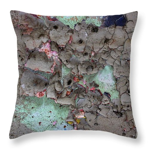 Graffiti Throw Pillow featuring the photograph Confetti Graffiti by Kenny Glotfelty