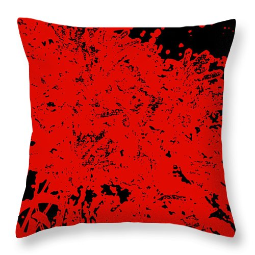 Chaos Throw Pillow featuring the digital art Chaos by James Temple