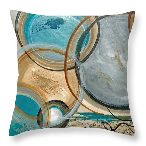 Abstract Throw Pillow featuring the painting Congestion by Ruth Palmer