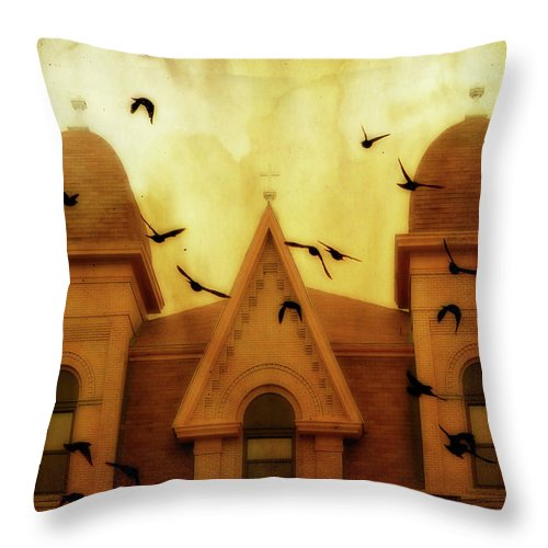 Church Throw Pillow featuring the photograph Congregation by Gothicrow Images
