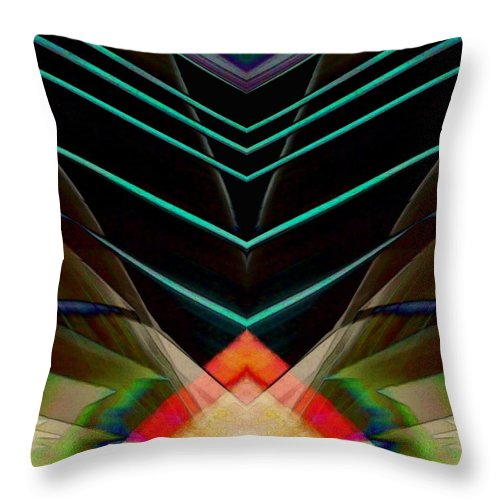 Connected In The Dark Throw Pillow featuring the digital art Connected In The Dark by D Preble