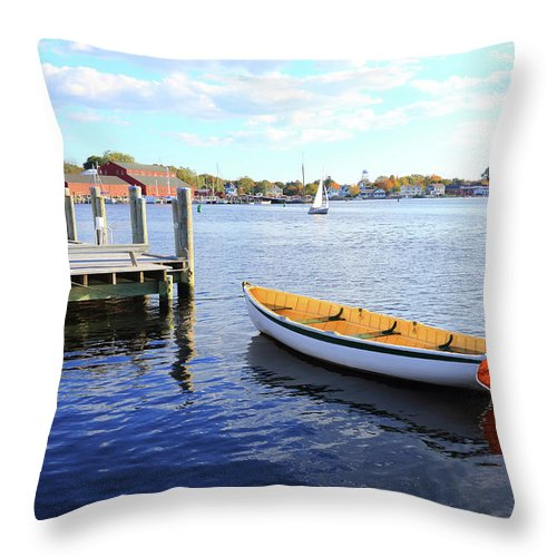 Steps Throw Pillow featuring the photograph Connecticut Mystic Seaport by Shunyufan