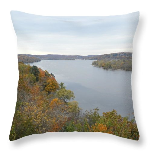 Throw Pillow featuring the photograph Connecticut River by Wolfgang Schweizer