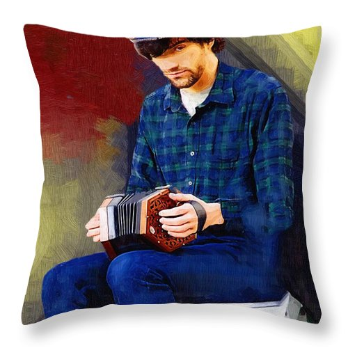 Man Throw Pillow featuring the painting Connection by RC DeWinter