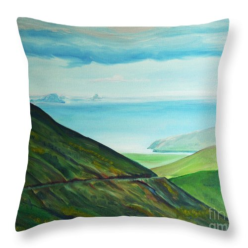 Ireland Throw Pillow featuring the painting Connor Pass by Eileen Arnold