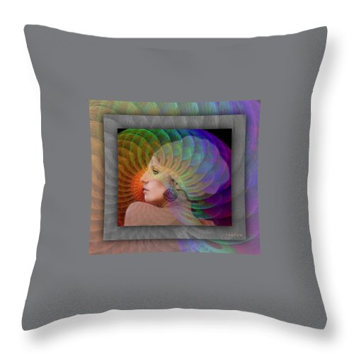 Portrait Throw Pillow featuring the photograph Consciousness by Richard Laeton