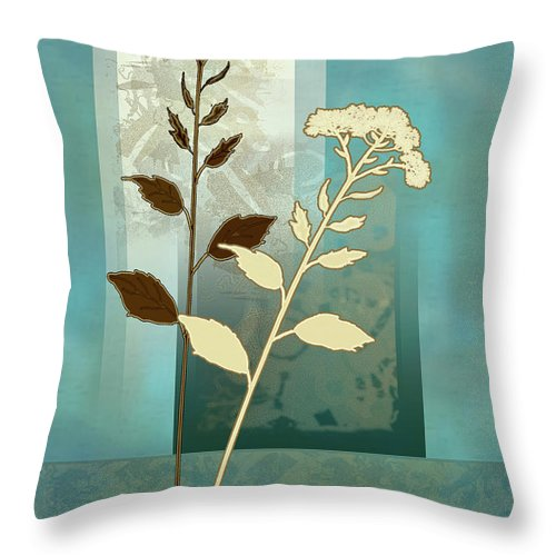 Painting By Gina Femrite Throw Pillow featuring the painting contemporary art Desert Grass by Regina Femrite