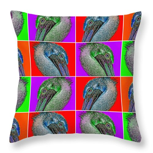 Pelican Throw Pillow featuring the photograph Contemporary Pelicans II by Betsy Knapp