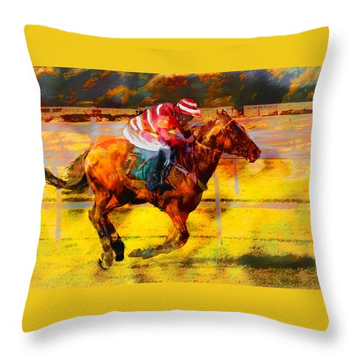 Contest Leroy Neiman Imitation Throw Pillow For Sale By Georgianne Giese