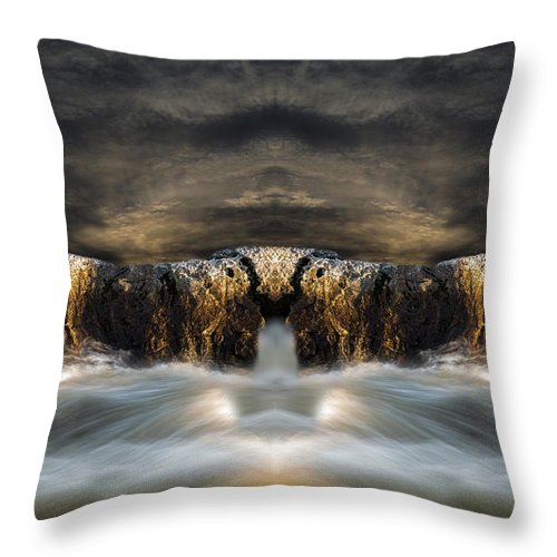 Seascape.landscape Throw Pillow featuring the photograph Convergence by Bob Orsillo