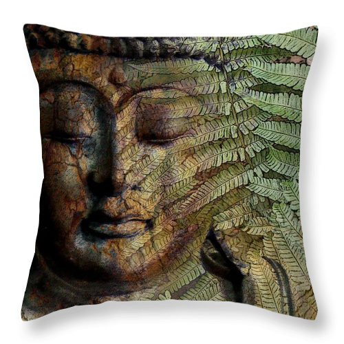 Buddha Art Throw Pillow featuring the photograph Convergence Of Thought by Christopher Beikmann