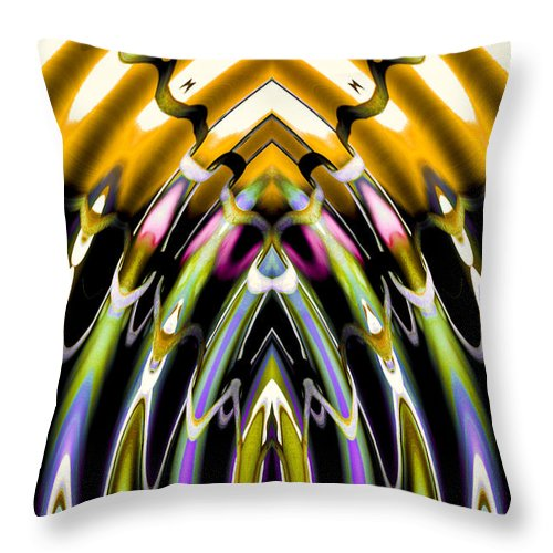 Abstract Throw Pillow featuring the digital art Convergent Waves 3 by William Durfey