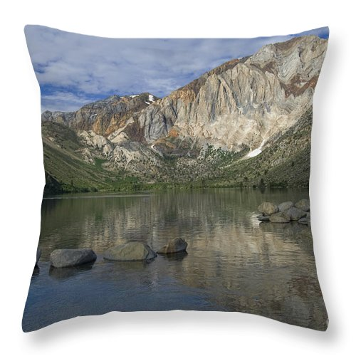 Convict Lake Throw Pillow featuring the photograph Convict Lake Reflection by Sandra Bronstein