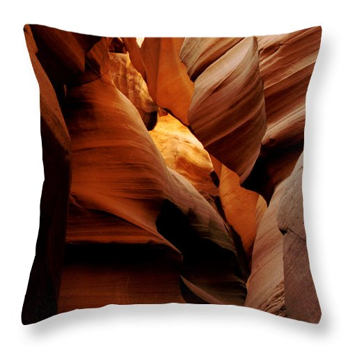 Antelope Canyon Throw Pillow featuring the photograph Convolusions by Kathy McClure