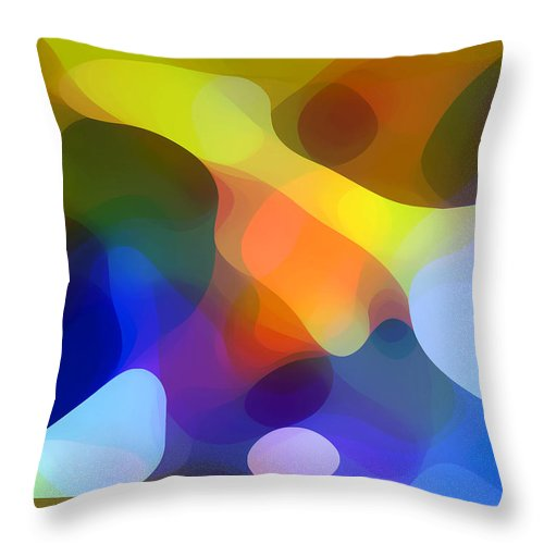 Bold Throw Pillow featuring the painting Cool Dappled Light by Amy Vangsgard