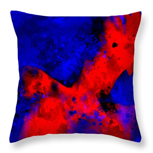Sexy Throw Pillow featuring the painting Cool Me Down by Brian Reaves
