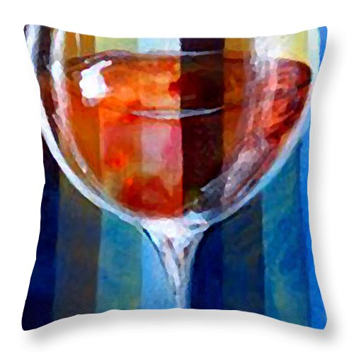 Wine Throw Pillow featuring the painting Coppa by Marcello Cicchini