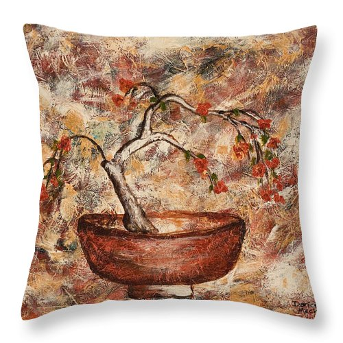 Copper Bowl Throw Pillow featuring the painting Copper Bowl by Darice Machel McGuire
