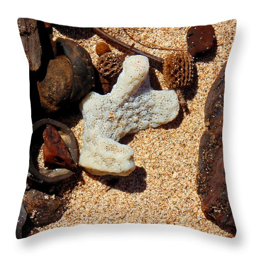 Photographs Throw Pillow featuring the photograph Coral by Marcello Cicchini