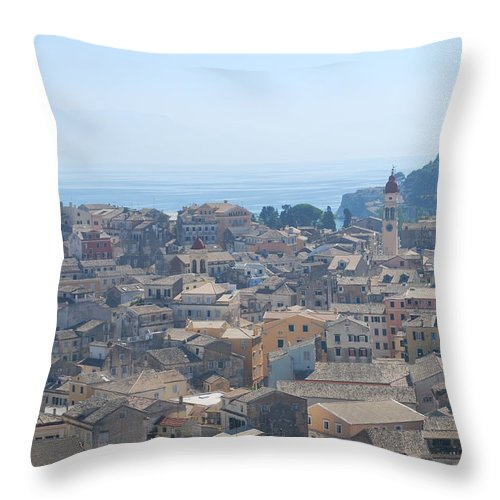 Corfu Throw Pillow featuring the photograph Corfu by George Katechis