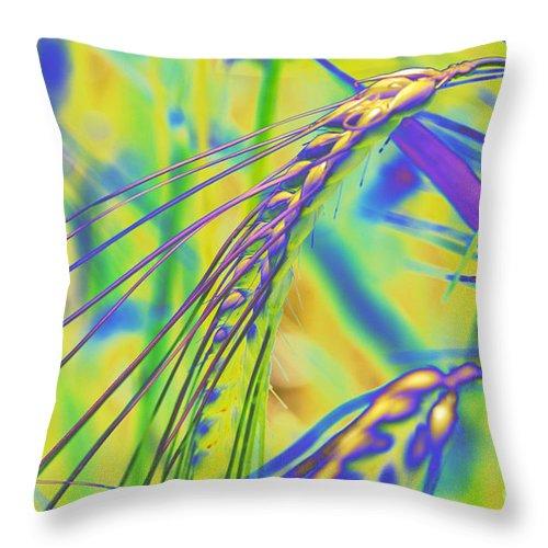 Corn Throw Pillow featuring the digital art Corn by Carol Lynch