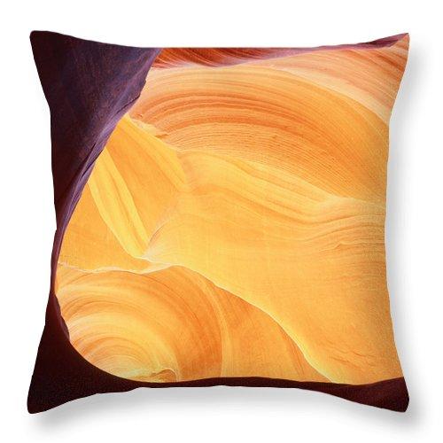 Arizona Throw Pillow featuring the photograph Corner Flame-sq by Tom Daniel