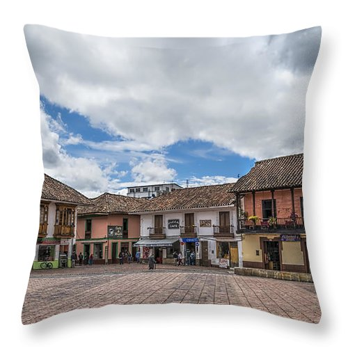 Boyaca Throw Pillow featuring the photograph Corner Square by Maria Coulson