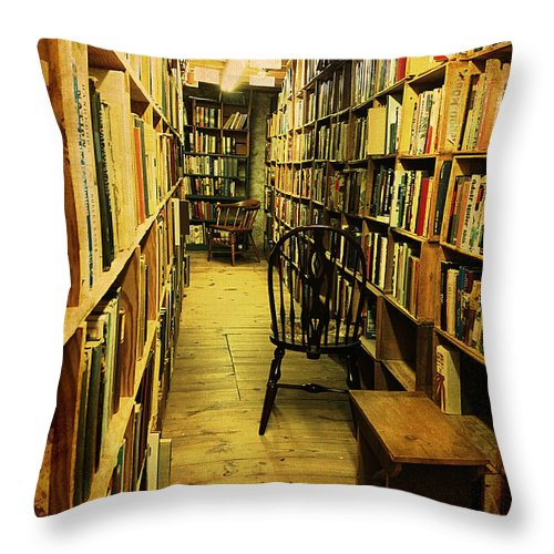 Books Throw Pillow featuring the photograph Corridor Of Contemplation by Richard Reeve