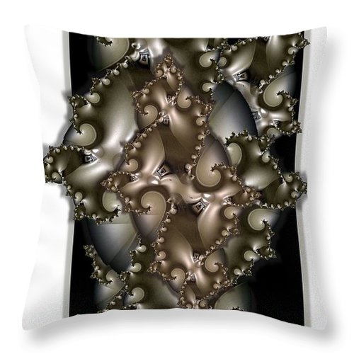 Collage Throw Pillow featuring the digital art Corridors by Ron Bissett