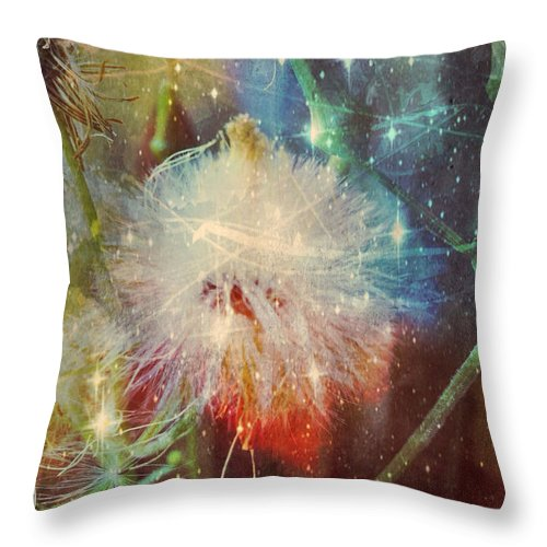 Cosmic Nature Throw Pillow featuring the photograph Cosmic Nature by Linda Sannuti