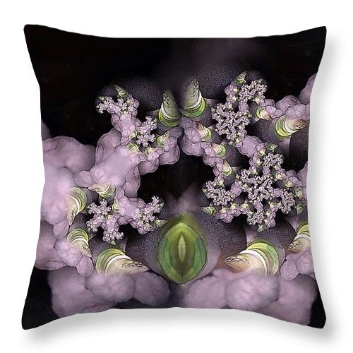 Collage Throw Pillow featuring the digital art Cotten Tail by Ron Bissett