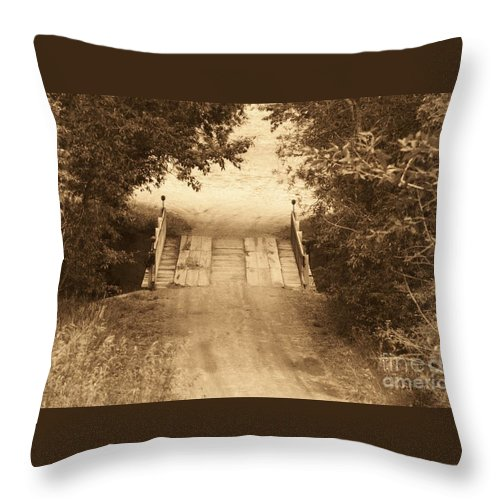 Bridge Throw Pillow featuring the photograph Country Bridge by Brandi Maher