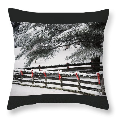 Virginia Throw Pillow featuring the photograph Country Christmas by Eric Liller