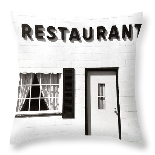 Restaurant Throw Pillow featuring the photograph Country Restaurant by Thomas Marchessault