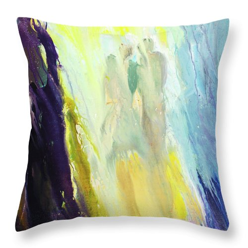 Art Throw Pillow featuring the digital art Couple by Balticboy