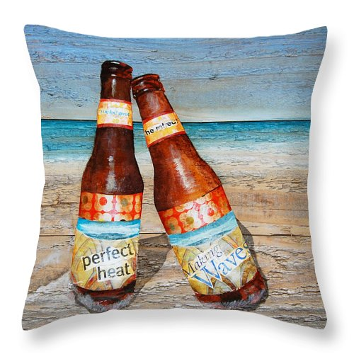 Beer Bottles Throw Pillow featuring the mixed media Couples Thearap by Danny Phillips