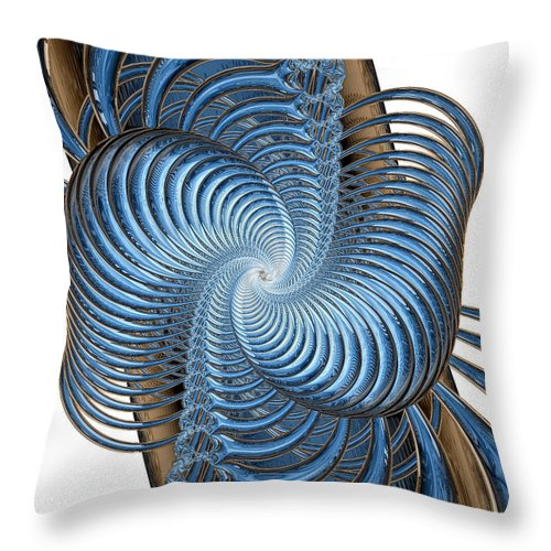 Fine Art Throw Pillow featuring the digital art Coupling by Kevin Trow