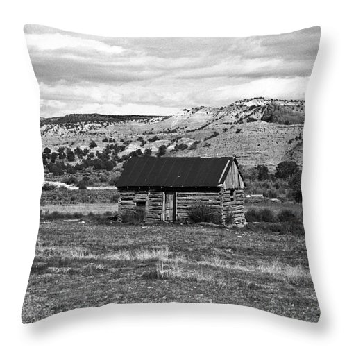 Utah Throw Pillow featuring the photograph Courage by Kathy McClure