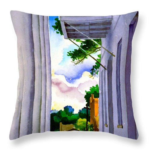Boyd Cruise Throw Pillow featuring the digital art Courthouse Clinton Louisiana by Boyd Cruise