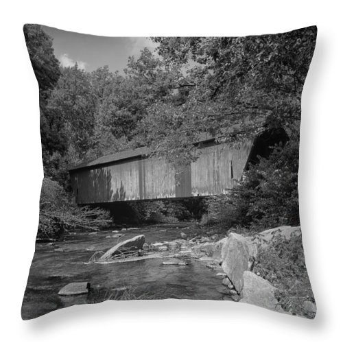 Baltimore County Throw Pillow featuring the photograph Covered Beauty by Mountain Dreams