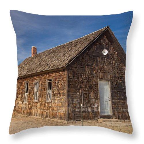 2015 Throw Pillow featuring the photograph Cowans School Lincoln County Colorado by Bridget Calip