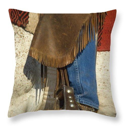Cowboy Throw Pillow featuring the photograph Cowboy Boot by John Shaw