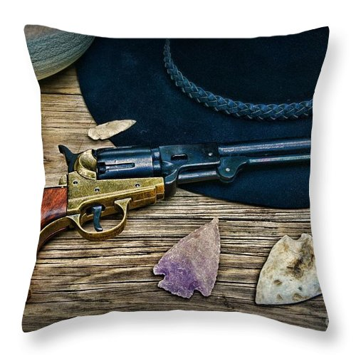 Paul Ward Throw Pillow featuring the photograph Cowboys And Indians by Paul Ward