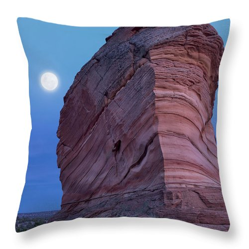 Arizona Throw Pillow featuring the photograph Coyote Buttes Moonrise by Leland D Howard