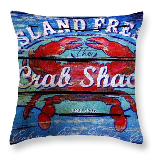 Crab Shack Throw Pillow featuring the photograph Crab Shack by Tim Townsend