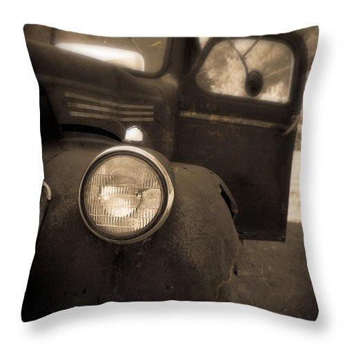 Truck Throw Pillow featuring the photograph Crash by Edward Fielding