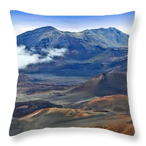 Hawaii Throw Pillow featuring the photograph Craters And Cones by DJ Florek