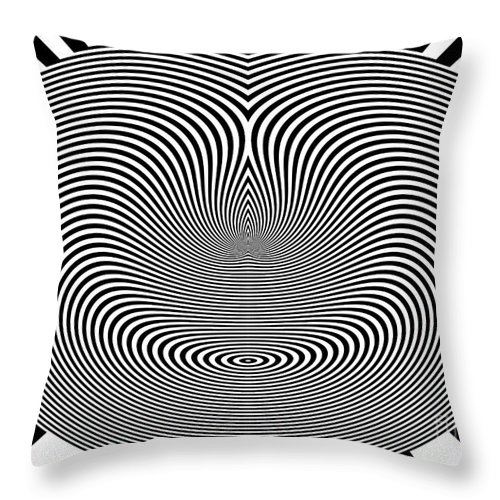 Crazy Circles Throw Pillow featuring the digital art Crazy Circles by Methune Hively