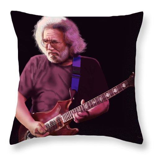 Jerry Throw Pillow featuring the painting Crazy Fingers by William Gambill